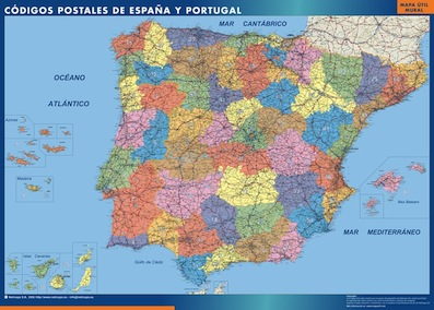 mapa imantados españa codigos postales