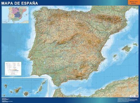 Mapa Carreteras Espana Relieve
