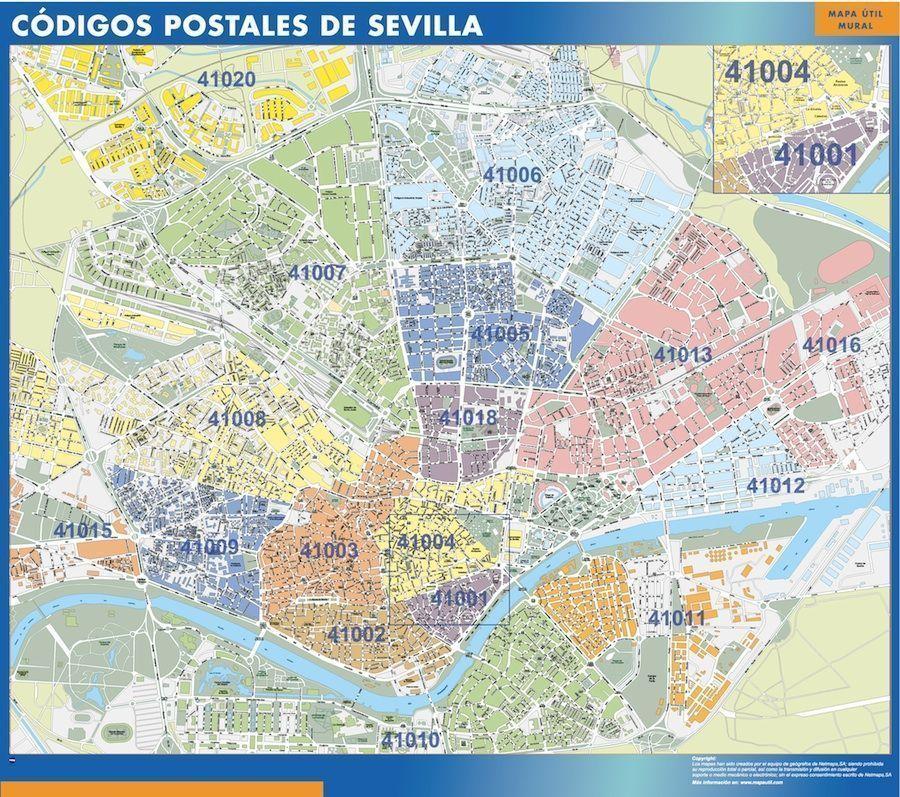D nde mapa c digos postales de sevilla tienda mapas for Codigo postal calle salamanca valencia