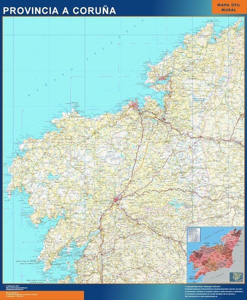 mapa a coruna