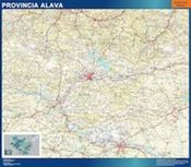 mapa provincia alava