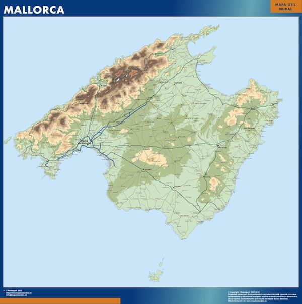 Mapa Isla de Mallorca en las Baleares