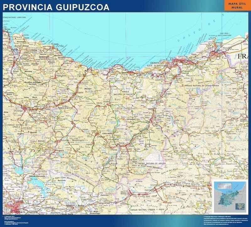 mapa guipuzcoa
