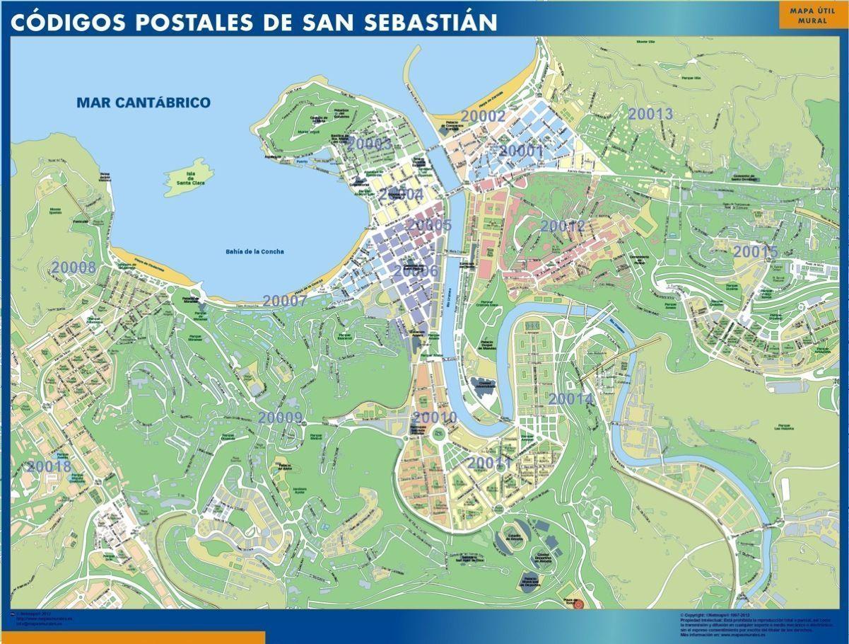 codigos postales san sebastian