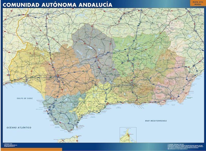 Mapa de Andalucía por provincias
