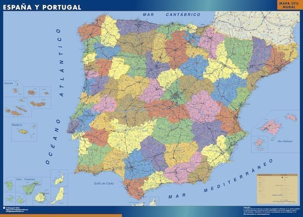 comprar mapa espana