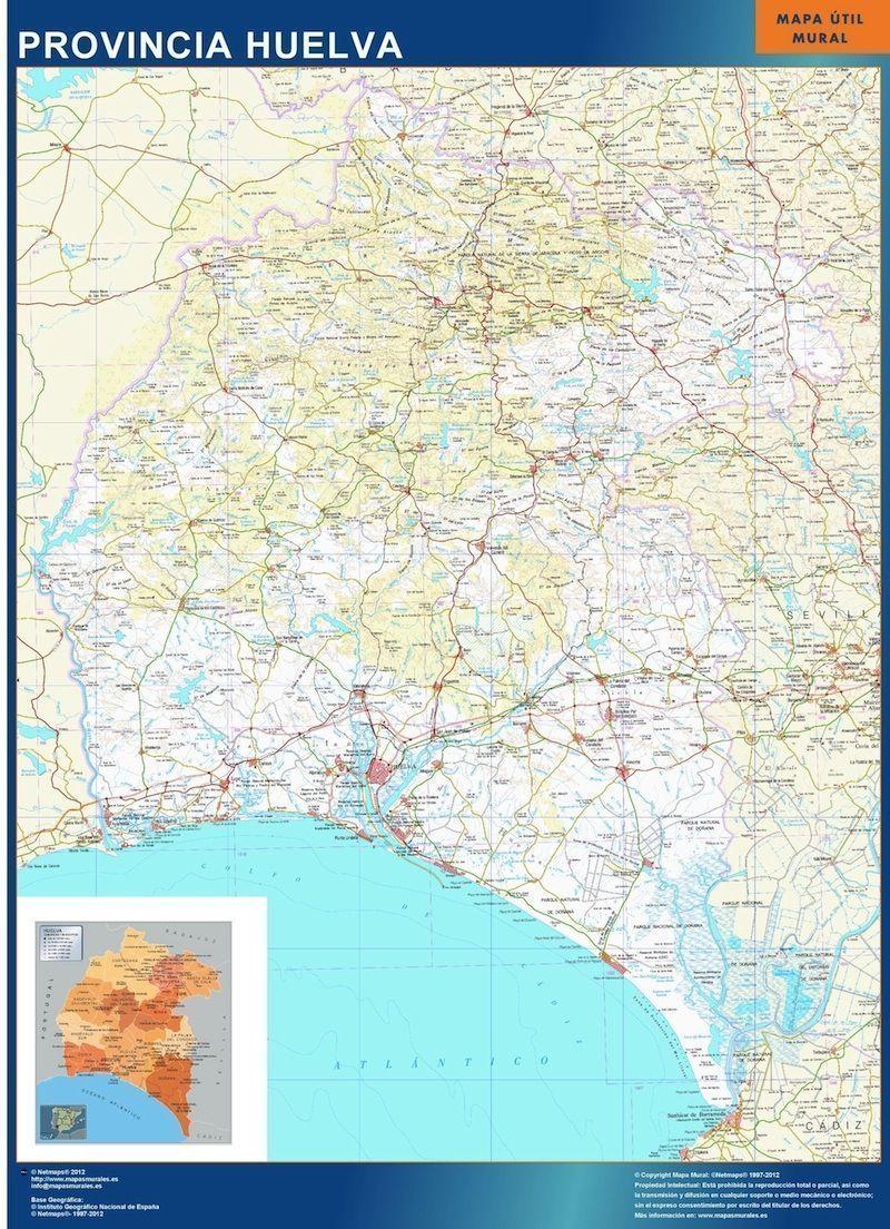 mapa provincial huelva