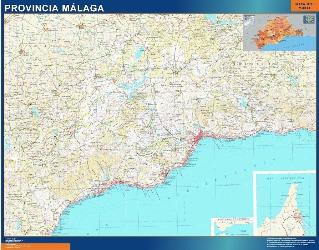 mapa provincial malaga