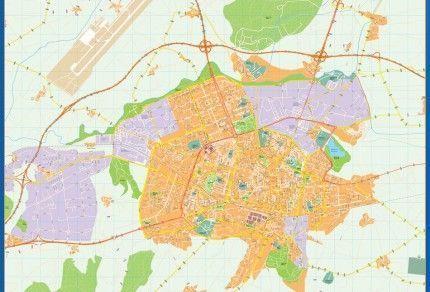 Mapa Callejero Vitoria Gasteiz capital Alava