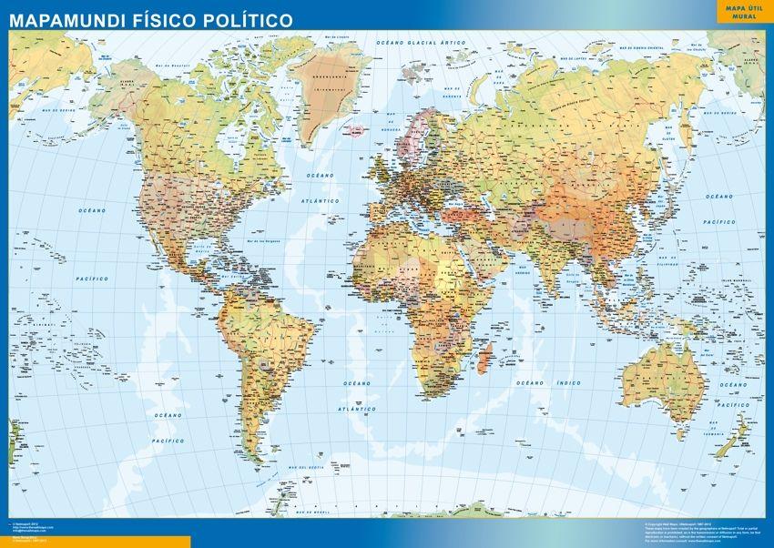 mapa mundo fisico politico