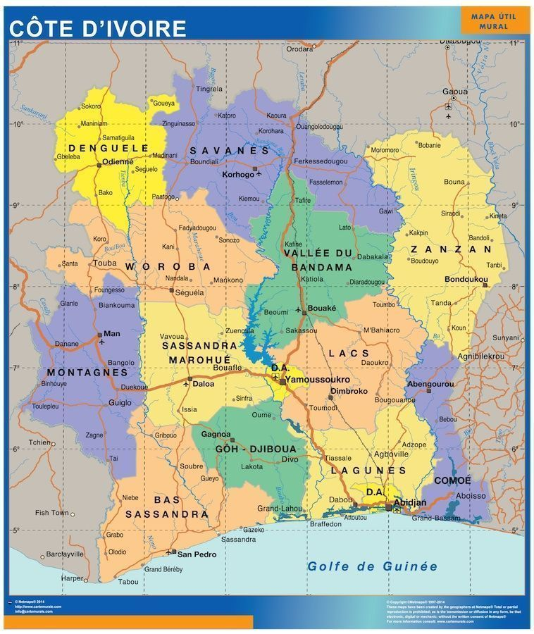 mapa costa marfil