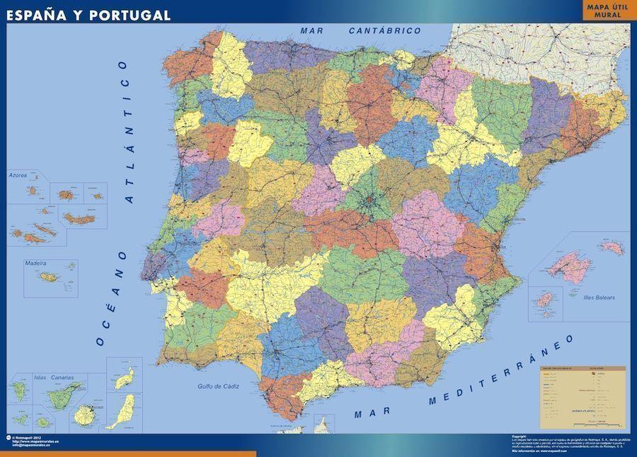 comprar mapa espana provincial