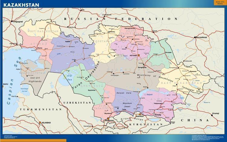 Mapa Kazakhstan