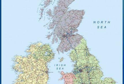 Mapa Reino Unido
