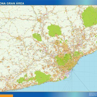 Mapa Barcelona carreteras Gran Area
