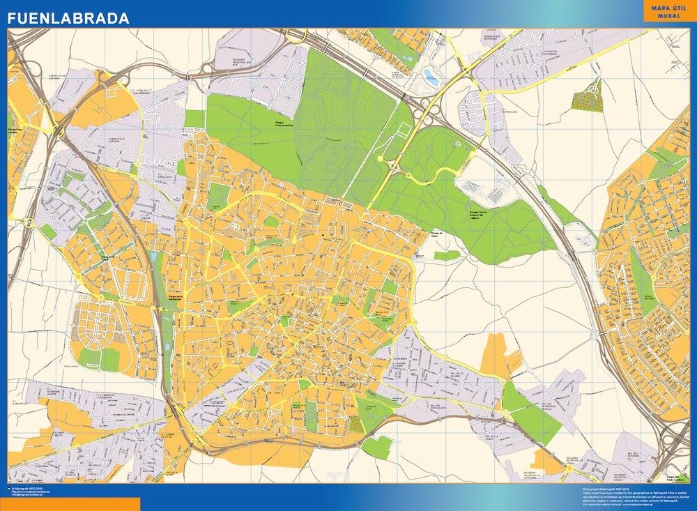 Mapa fuenlabrada comprar mapas murales for Oficina banco santander fuenlabrada