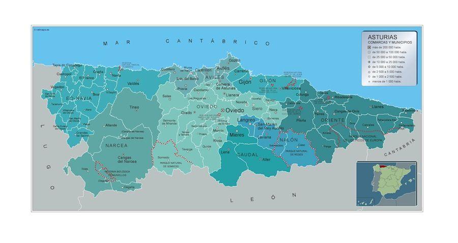 Mapa Municipios Asturias