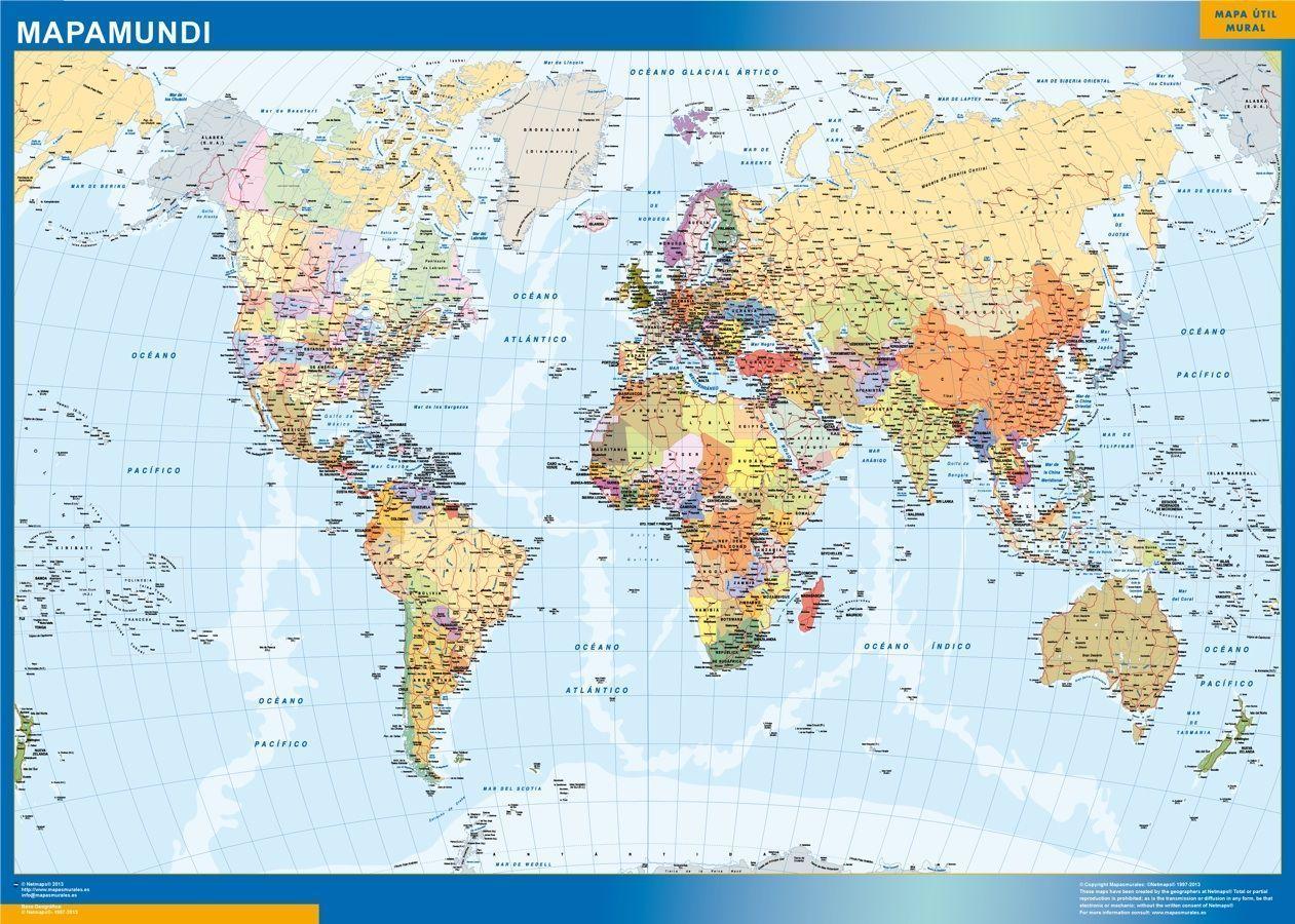 Mapa Mundo Estados Usa