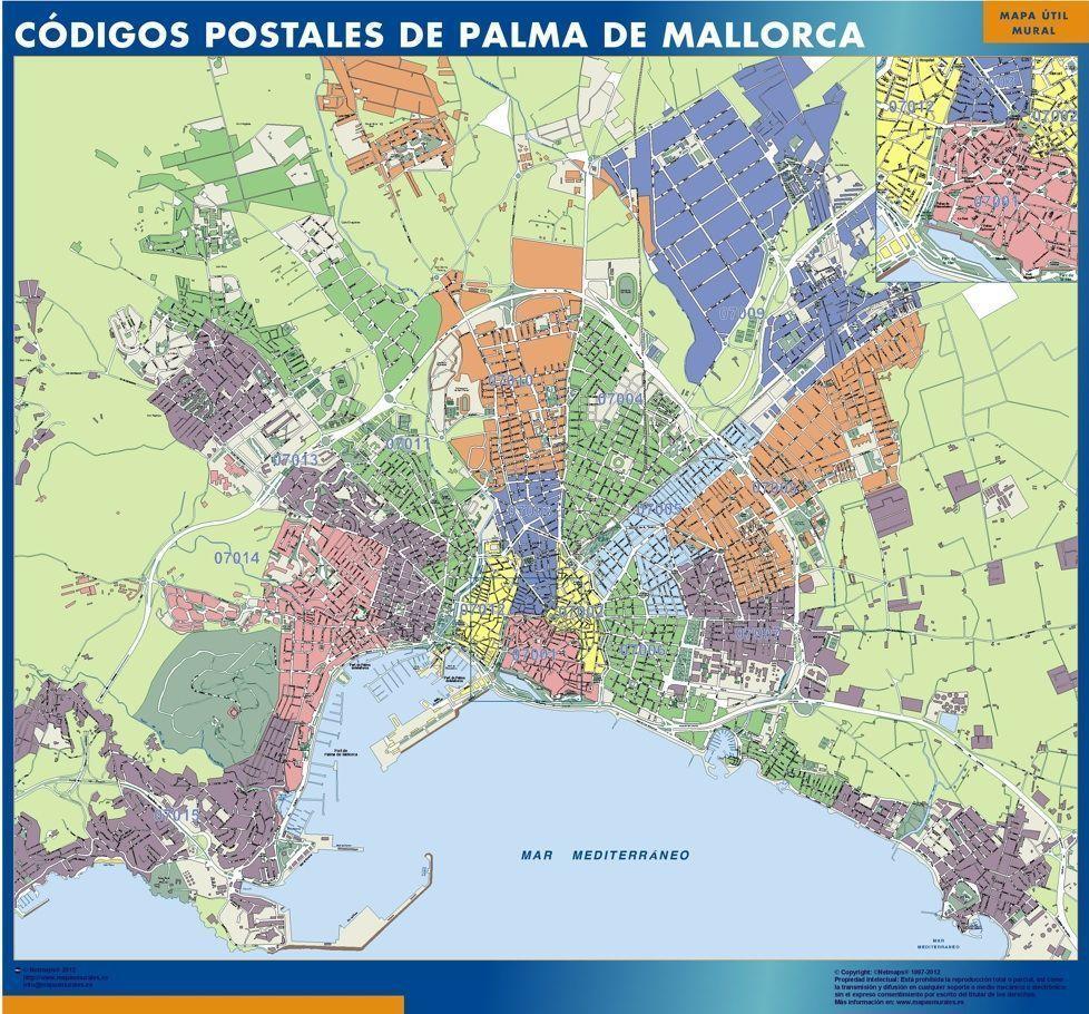 Mapa Códigos postales Palma de Mallorca callejero