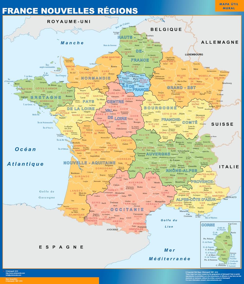 Mapa Francia Regiones