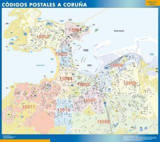 A Coruna códigos postales gigante