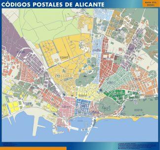 Alicante códigos postales gigante