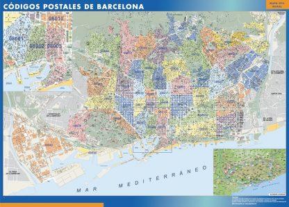 Barcelona códigos postales gigante