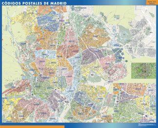 Madrid códigos postales gigante