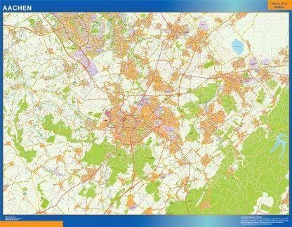 Mapa Aachen en Alemania gigante