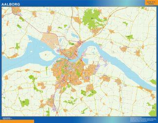 Mapa Aalborg en Dinamarca gigante