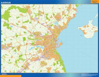 Mapa Aarhus en Dinamarca gigante