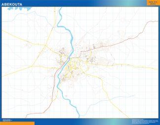 Mapa Abekouta en Nigeria gigante
