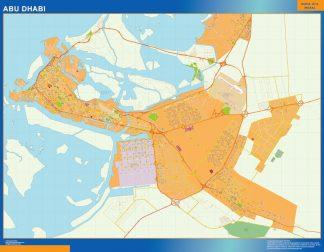 Mapa Abu Dhabi gigante