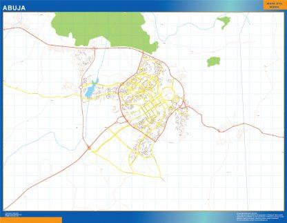 Mapa Abuja en Nigeria gigante