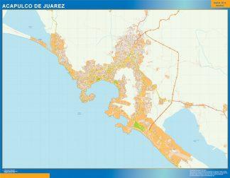 Mapa Acapulco De Juarez en Mexico gigante