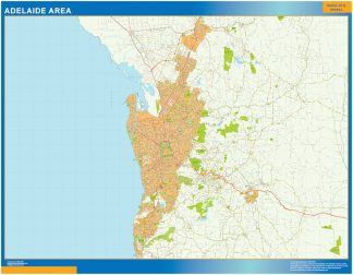 Mapa Adelaide Area Australia gigante