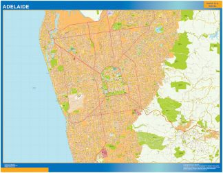Mapa Adelaide Australia gigante