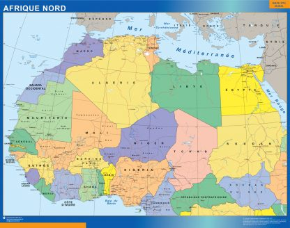 Mapa Africa Norte gigante