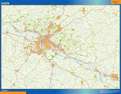 Mapa Agen en Francia gigante