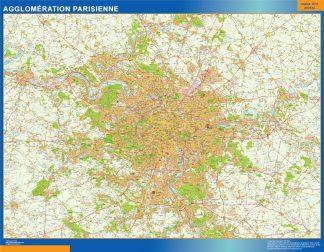 Mapa Agglomeration Parisienne en Francia gigante