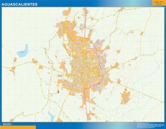 Mapa Aguascalientes en Mexico gigante