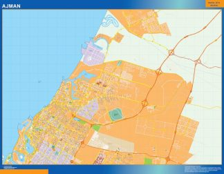 Mapa Ajman gigante