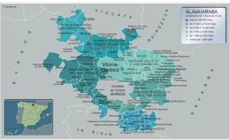 Mapa Alava por municipios gigante
