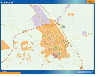 Mapa Albacete callejero gigante