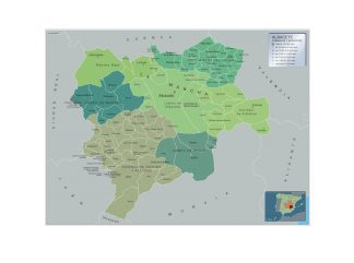 Mapa Albacete por municipios gigante