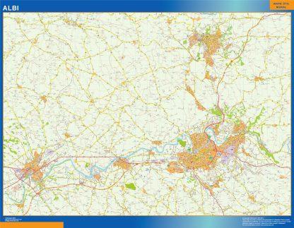 Mapa Albi en Francia gigante