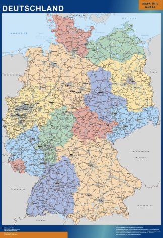 Mapa Alemania gigante