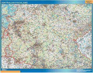 Mapa Alemania central carreteras gigante