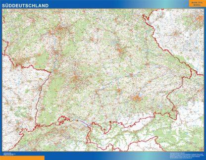 Mapa Alemania sur carreteras gigante