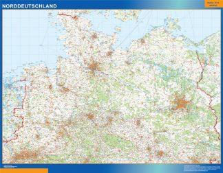 Mapa Alemania norte carreteras gigante